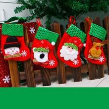 Christams Stockings New Year Candy Bag Stocking Christmas Decoration Gifts Socks Christmas Ornament  -35