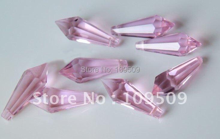38 мм розовый Конус для подвесок люстры или осветительных частей или украшения дома