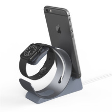 YFW Stand For Apple Watch Charging Station Dock Accessories Phone Holder Aluminum for iPhone 7 6s 6 Plus 5s SE