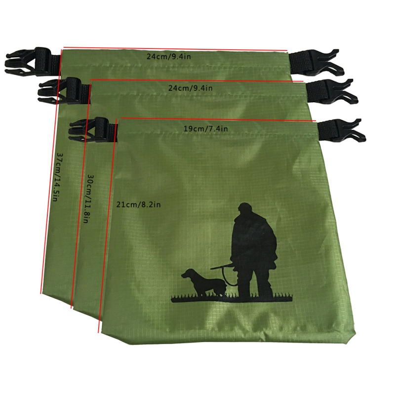 Camping Hiking River Trekking Waterproof 3/5 Sets 210T Titafo Bags Buckle Band Portable Durable Buckle
