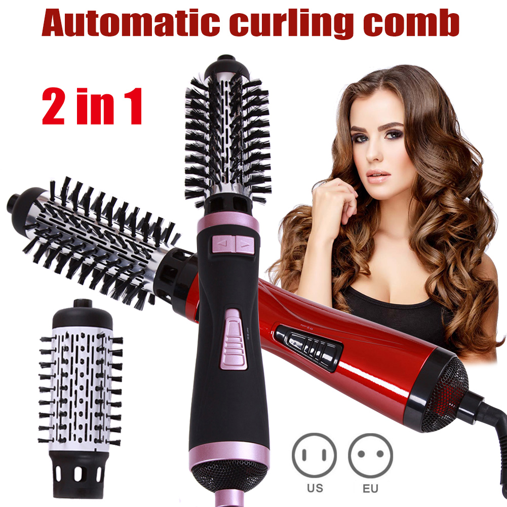 2 in 1 Hot Air Brush Dryer Curling Rod Hair Styling Tools
