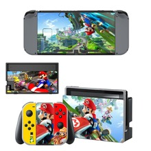 Mario+Rabbids Kingdom Battle Decal Vinyl Skin Sticker for Nintendo Switch NS Console + Controller Stand Holder Protective