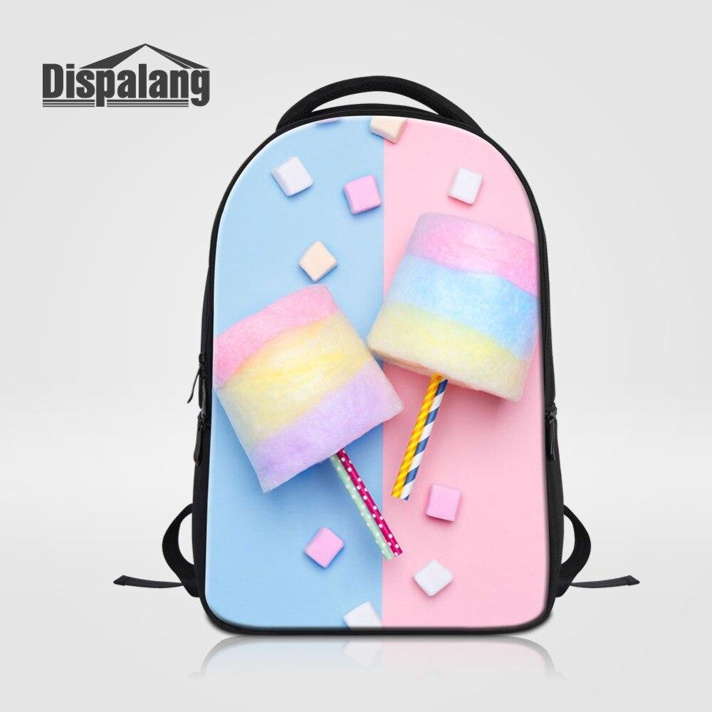 Grande capacité femmes sac à dos pour ordinateur portable bonbons guimauve Designer sacs d'école pour collège étudiant sac à dos fille haute qualité Rugtas