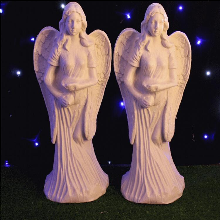 New Arrival White Angel Plastic Wedding Roman Column Party Banquet Welcome Area Decoration Props Supplies 2pcs