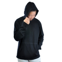 Men 100% Merino Wool 300 gsm Thick Fashion Hoody Base layer Top Hoodies Shirt Sweater Long Sleeve Flat Knitted Pullovers