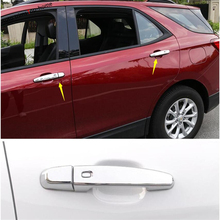 Yimaautotrims Outside Auto Door Pull Handle Cap Cover Trim Fit For Chevrolet Equinox 2017 2018 2019 ABS Chromium Styling