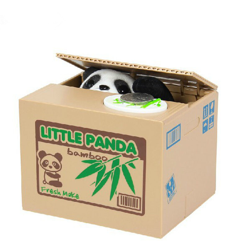 Mischief Saving Box Little Panda Saving Box Toy Funny Saving Box Animals Panda Automatic Electric Stole Coin Piggy Bank As Gift the football game comes to coin money toy box pastic coin cases hidden safe kids piggy bank money toy game bank safe magic jbzq
