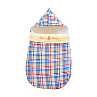 Baby cotton hug sleeping bag newborn autumn and winter cotton baby bag is thickened quilted warm blanket