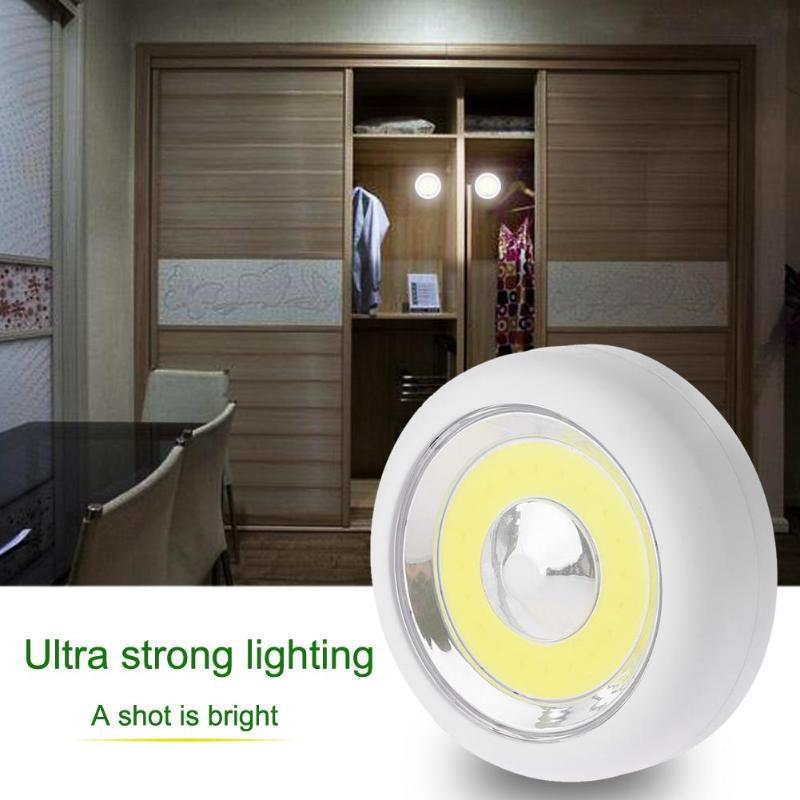 Mini Emergency Night Light Waterproof LED Pat Touch Cabinet Ceiling Closet Lamp Night Light Taplight Home Room Tap Light