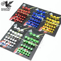 1 set of 30 PCS motorcycle screw nut for yamaha decal motorbike Screw cap Vehicle colorful centro motocross Ornamental Mouldings