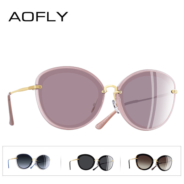 AOFLY BRAND DESIGN Fashion Ladies Cat Eye Sunglasses Metal Legs Polarized Sunglasses Women Oculos Gafas A137 3
