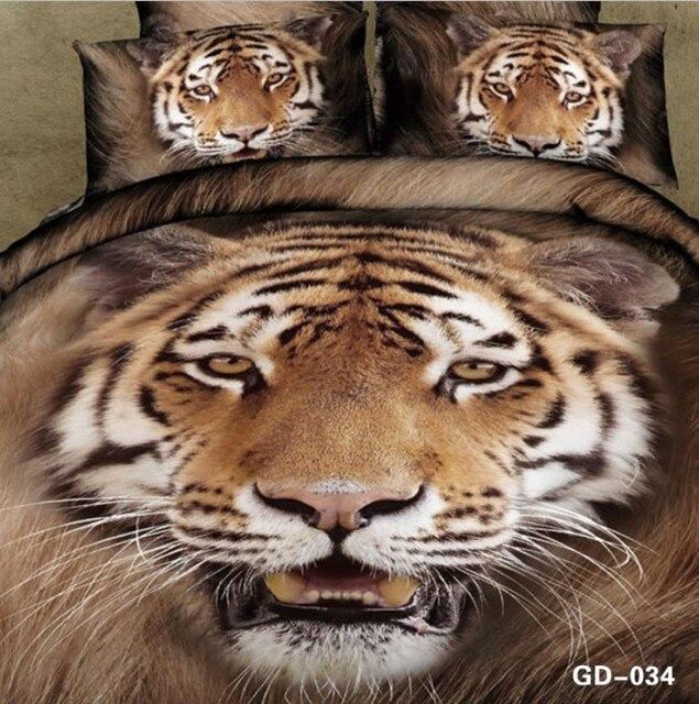 couvre lit tigre 3D Tiger imprimer ensemble de literie couette housse de couette  couvre lit tigre
