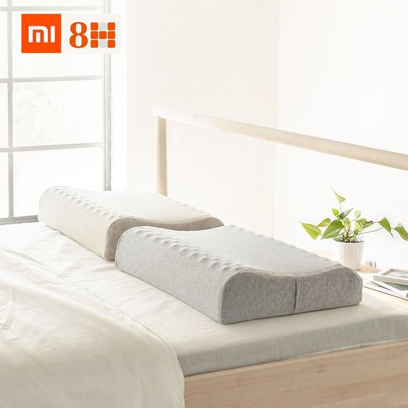 Ev ve Bahçe'ten Vücut Yastıkları'de Xiaomi youpin 8H Doğal Lateks masaj yastığı Z3 Spa Uyku Servikal Masaj Sağlık boyun yastık Bağlı Baş Bakımı Yastık Kılıfı'da  Grup 1