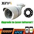 XinFi HD 1080 P POE IP CCTV камера 2MP ночного видения крытый/Открытый Водонепроницаемая камера видеонаблюдения ONVIF Удаленного просмотра лазерная ИК-ПОДСВЕТКОЙ