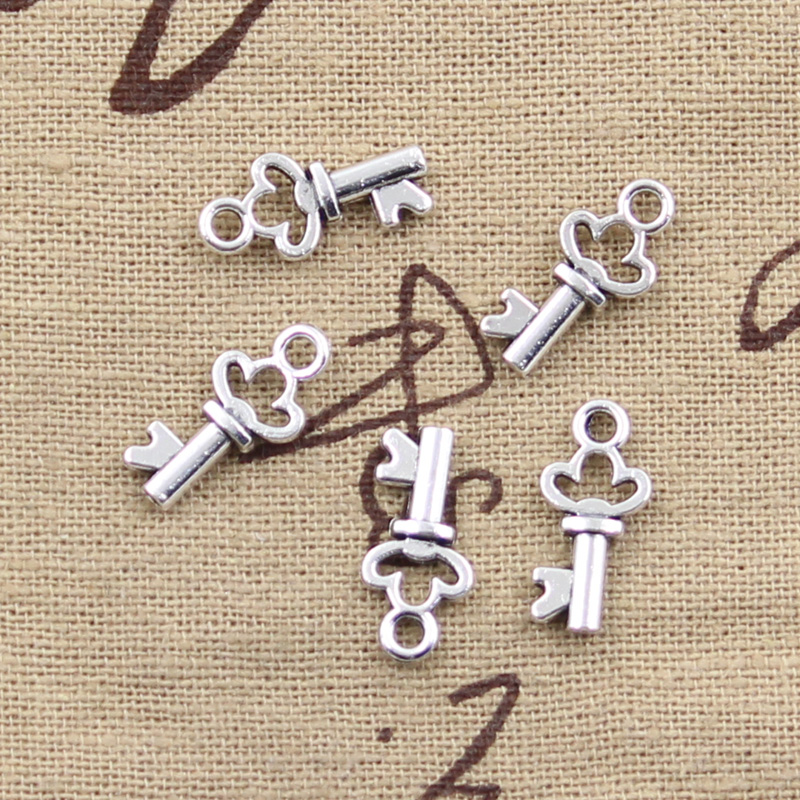 20pcs Charms Vintage Skeleton Chest Key 17x7mm Antique Making Pendant Fit,Vintage Tibetan Silver Bronze,DIY Handmade Jewelry