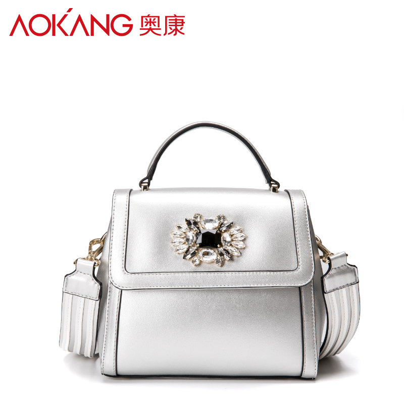 Aokang 2017 new arrival lady handbag one shoulder women bags Euramerican style fashion pattern female handbags free shipping new split leather snake skin pattern women trunker handbag high chic lady fashion modern shoulder bags madam seeks boutiquem2057