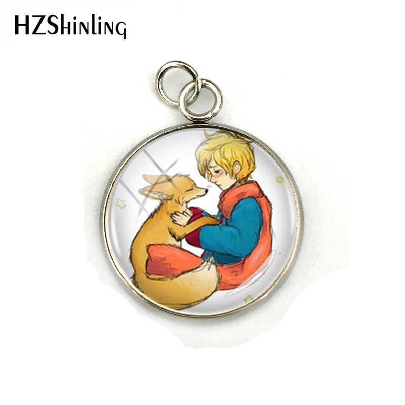 Nueva moda los pequeños Princes con accesorios de joyería de zorro pequeños Princes cristal cabujón de acero inoxidable joyería al por mayor