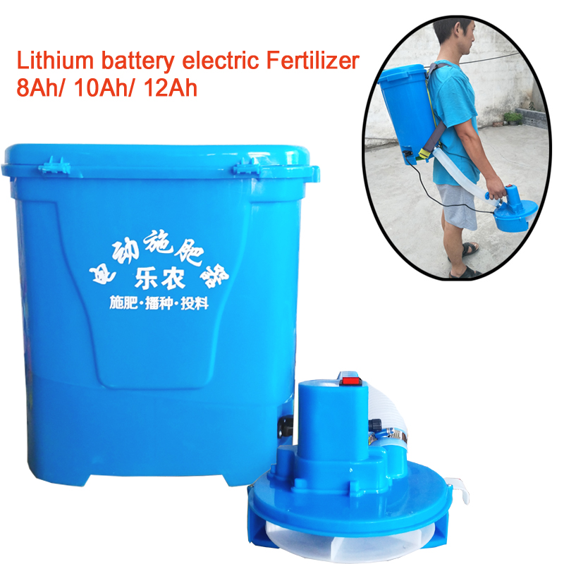 15%,Front Carrying Type Lightweight Electric Fertilizer Rechargeable Seeder Seeder Average Throwing Feeding Machine 20L