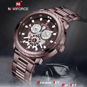 Image 5 - NAVIFORCE homme montre 2019 Top luxe marque nouvelle mode qualité en acier inoxydable militaire Sports hommes montres étanche bracelet