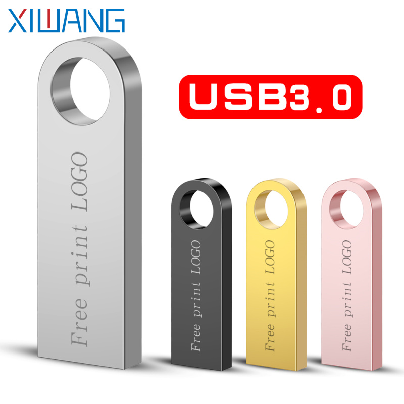 Pen-Drive Memory-Disk Usb Free-Custom-Logo 16GB Metal 128GB High-Speed 32GB 4GB