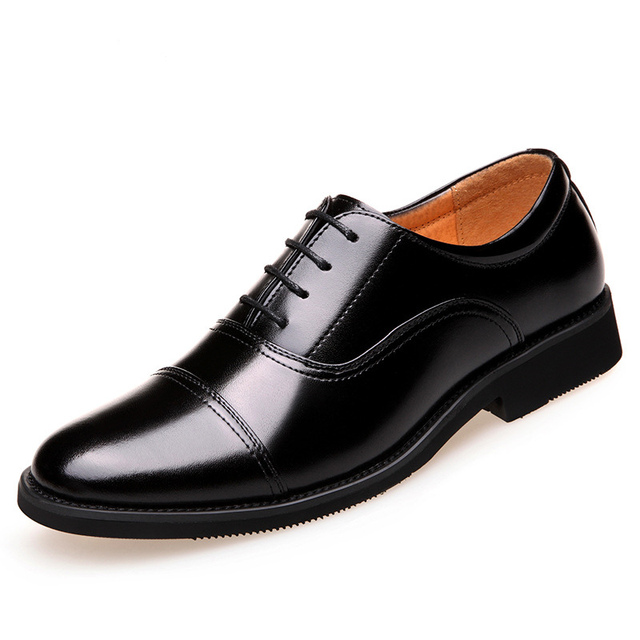 1c7ed13a2b9 2018 China Officer Cow Split Leather Shoes Men s Flats Black Oxfords Formal  Wedding Shoes Suit Dress Business Shoes For Party