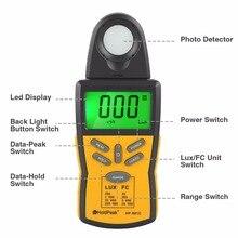 Digital Lux Meter Photometer Illuminometer Spectrophotometer High Precision Light Meter 200,000 LUX/FC,HP-881C la 952 professional digital light meter luxmeter lux fc meters luminometer photometer 400000 lux