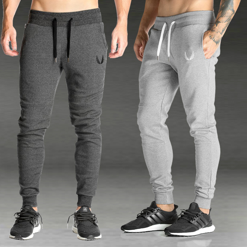 2019 Men Gyms Joggers Pants Casual Elastic Cotton Mens Fitness Workout Pants Skinny Sweatpants Trousers Jogger Pants