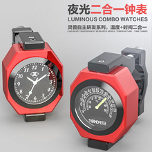 SPIRIT BEAST Motorcycle Accessories Thermometer Motocross Essories Modified Luminous Electronic Clock Thermometer Combo Creativ