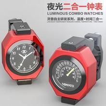 SPIRIT BEAST аксессуары для мотоциклов, термометр, аксессуары для мотокросса, модифицированные светящиеся электронные часы, термометр, комбинированный Creativ