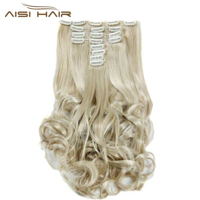 Is A Wig Synthetic 18 Clips In Hair Extension 8pcsset 22inch Long