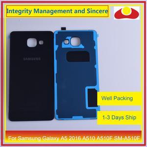 Image 4 - מקורי עבור Samsung Galaxy A5 2016 A510 A510F SM A510F שיכון סוללה דלת אחורי כיסוי אחורי מקרה מארז פגז