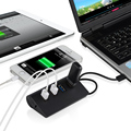 HUD Divisor USB portátil 4 Puertos USB 3.0 Puertos de Alta Velocidad de Aluminio Poder-Autobús Para PC Portátil Mac Ordenador Periféricos