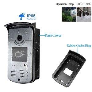 Image 3 - Wired בית 7 צבע וידאו אינטרקום RFID מצלמה עם 1 צג וידאו דלת טלפון 500 משתמש לדירות עם מתכת מנעול חשמלי