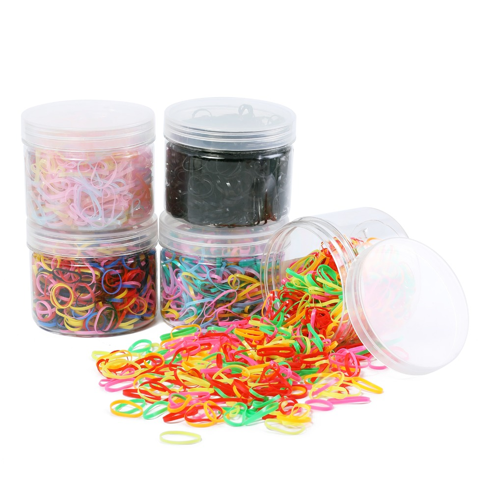 250/500/1000PCS Ponytail Holder Elastic Hair Band Hair Holder Rubber Hairband Hair Accessories For Girls Rope Tie Gum(no Box)