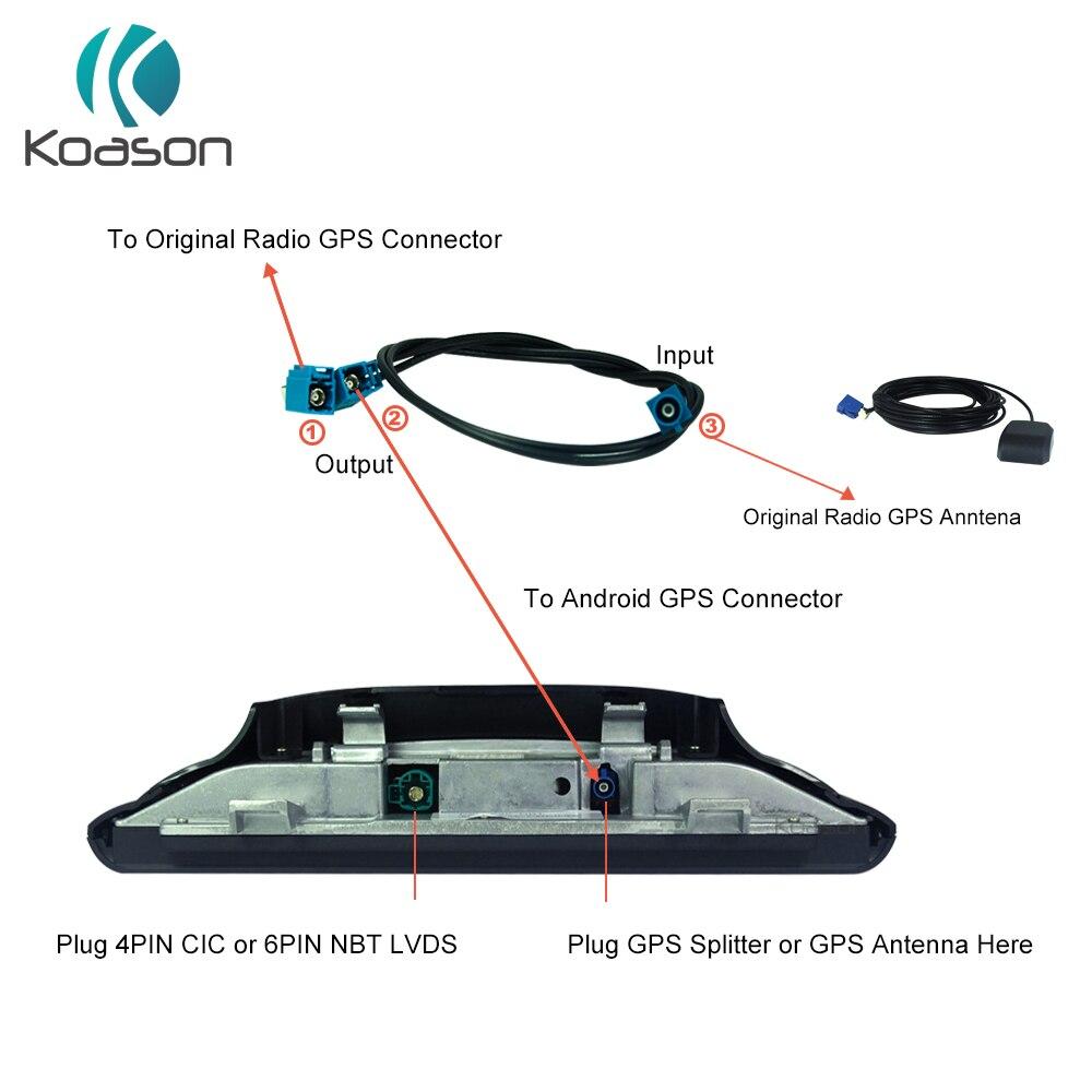 Cabo rachado fakra gps para acessórios da antena de gps de android cabo divisor da antena do carro para bmw benz audi oe tela de rádio