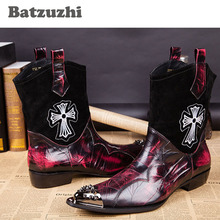 Big size 45 46! Handsome Top Quality Man Boots Genuine Leather