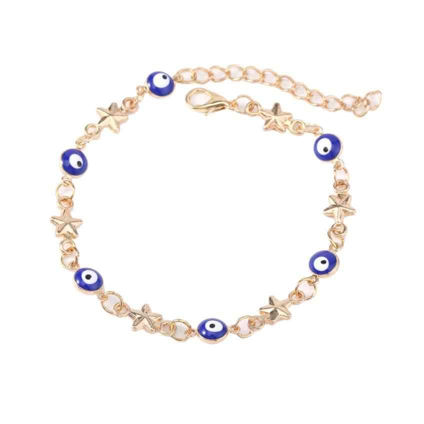 מעולה טורקיה עיניים מחומש צמיד Wristlet כוכב אופנה ידידות צמיד תכשיטי מבריק צמיד צמידים
