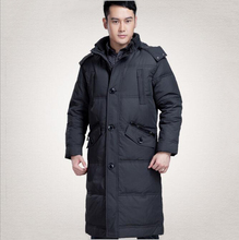 Men Jacket White Duck Down Nice Winter Coat Plus Size Thick Warm Men Jacket Long Parkas Hooded Down Jacket&Coat WLF152