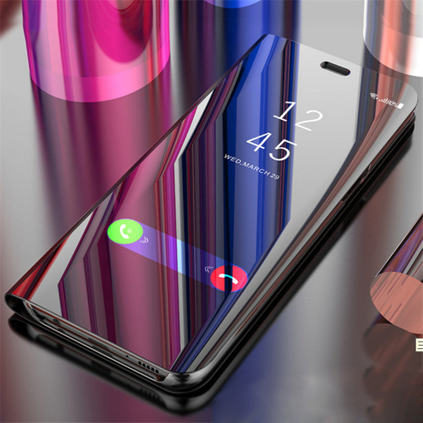 Mirror Case For SAMSUNG Galaxy note 9 On Samsung Note9 Smart Mirror Clear View Flip cover Case For Samsung Galaxy note 9