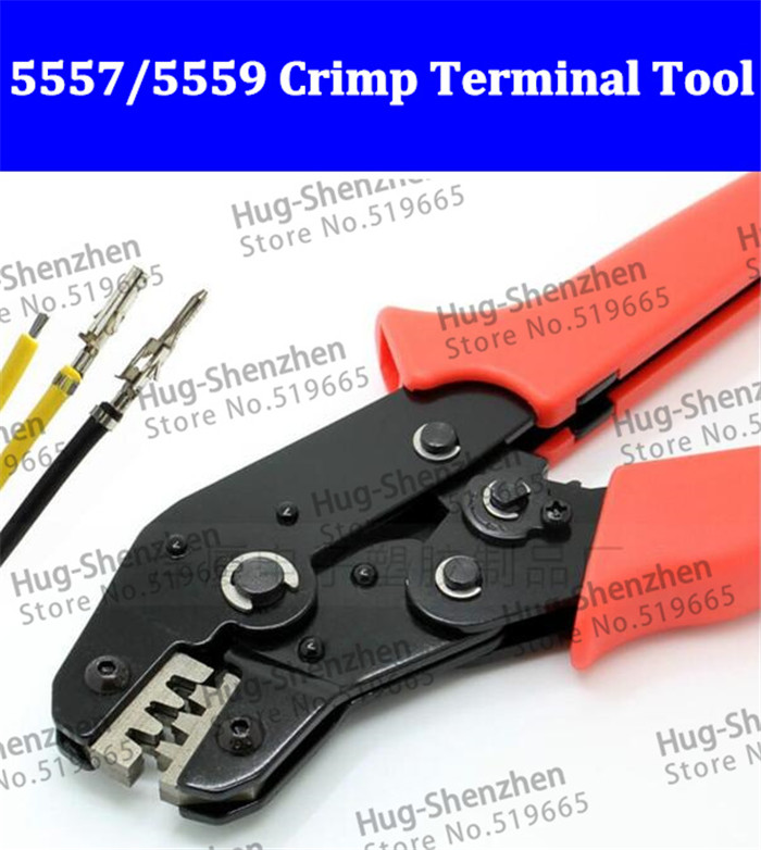 New 4.2mm connector plug terminal spring clamp terminals Crimping Tool pliers For 5557 5559 half gold plate crimp pin terminals 20set lot 5557 5559 4p 5557 5559 automotive wiring harness connector male female 4pin free shipping