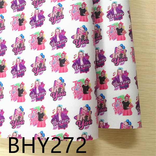 Free Shipping 20*33cm A4 Cartoon Line Print Synthetic Leather Fabric For DIY Accessories BHY272