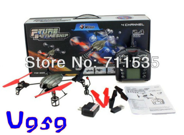Latest WLtoys V959 2.4G 6 Axis Gyro 4CH RC QuadCopter Helicopter With Camera . Upgrade Version of V929 V939 V949 UFO