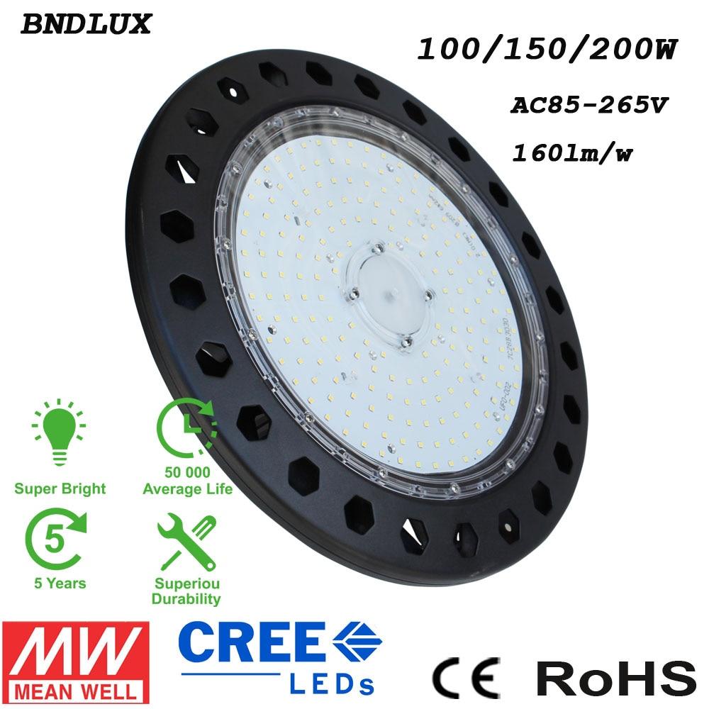 IP65 150W UFO LED High Bay Light 160LM/W 5 Years warranty цена