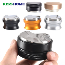 Stainless Steel Coffee Tamper 3/4 Angled Slopes Base Aluminum Alloy 58mm Adjustable Macaron Powder Hammer Accessories