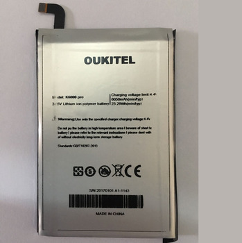 Oukitel K6000 Pro Battery Replacement Original Large Capacity 6000mAh Back Up Batteries For Oukitel K6000 Pro In stock image