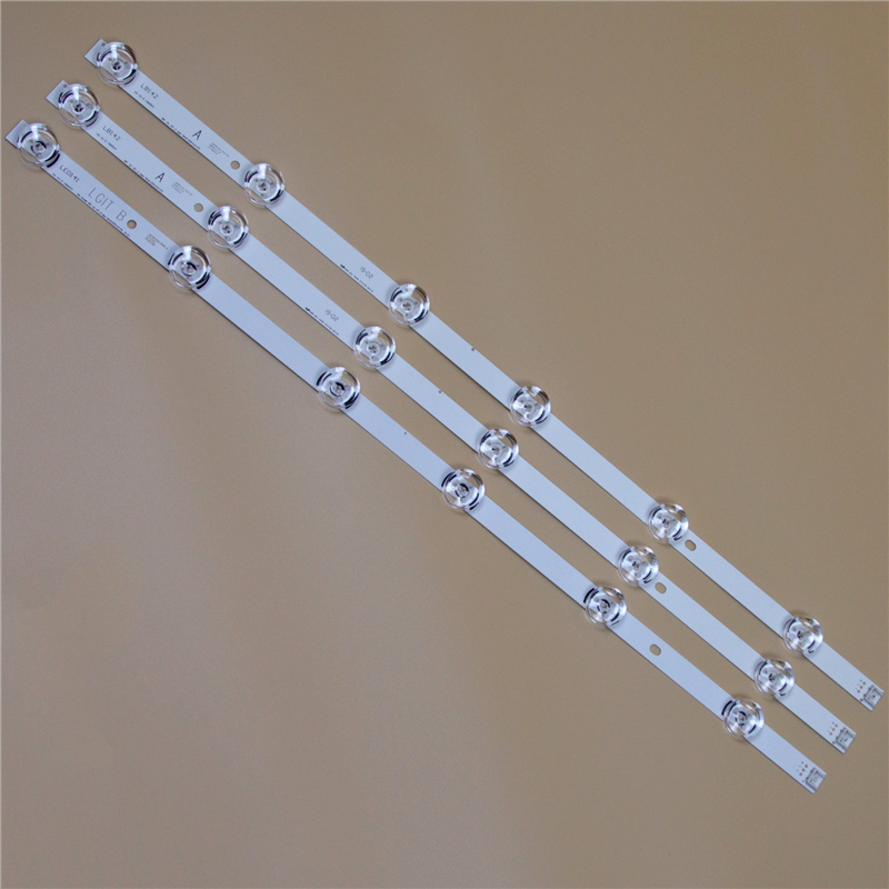 TV LED Bars For LG 32LF630V 32LF6310 32LF620B 32LF620V 32LF6300 32LF6319 32LF650V LED Backlight Strip Kit 6LED Lamp Lens 3 Bands