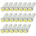 50 Unids/lote Coche Luz Indicadora de Bulbos Interiores de la Cuña de La Lámpara T5 1SMD 5050 t5 5050 llevó la luz del coche del coche led t5