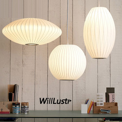 Modern Silk Pendant Lamp Simplistic Suspension Lighting Living Room Bedroom Hotel Hall Cafe Japan Style Hanging Light 8 Patterns