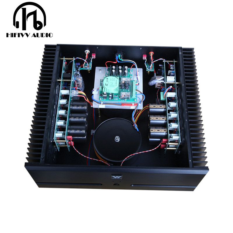 500W + 500W Fully Symmetric 2.0 Stereo power speaker amplifier Finished large hifi Post stage Amplifier Balanced XLR rca InputAmplifier   -