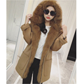 Winter female new real fur coat Hooded wool coat Fox fur coats double face jacket with Removable Big Fox fur liner for women